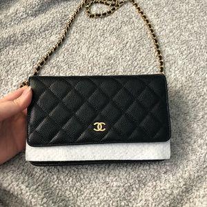 Black Chanel caviar 19B woc